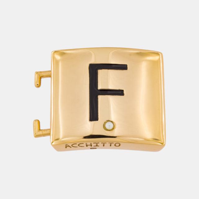 Placca lettera F